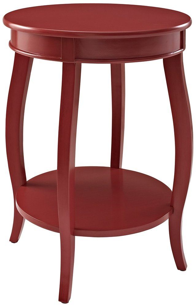 Charmant Amazon.com: Powell Furniture Round Table With Shelf, Red: Kitchen U0026 Dining