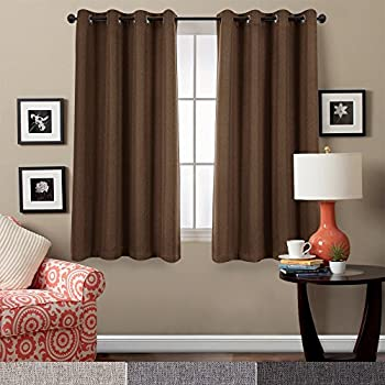 Blackout Curtains For Bedroom Linen Look Curtains For Living Room Grommet  Room Darkening Window Curtains ,