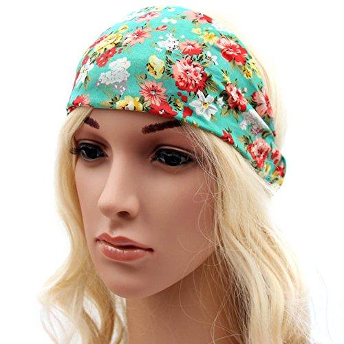 Sanwood Batik Headband for Sports or Fashion, Yoga or Travel (Style 7)