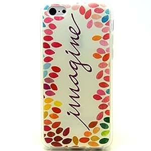 Iphone 5c Case, Beautiful Imagine Clear Bumper Case Silicone Skin Cover for iphone 5c