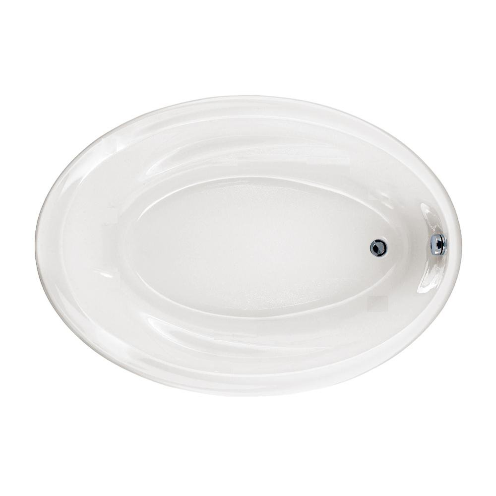 American Standard Savona 60 in. x 42 in. Oval Bathtub with Molded-In Arm rest, White - 2903002.020