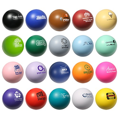 150 Personalized Stress Balls Custom Printed with Your Logo or Message (Imprinted Balls Stress)