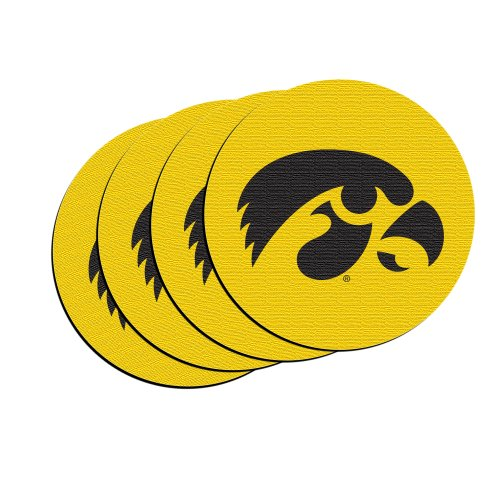 NCAA Iowa Hawkeyes Neoprene Car Coasters, (Iowa Hawkeyes Ncaa Beverage)