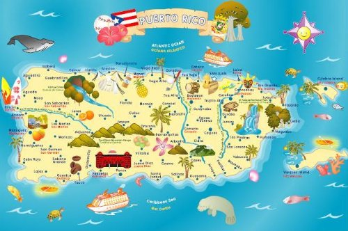 Amazon.com: Ingenio Puerto Rico Map Bilingual Learning ...