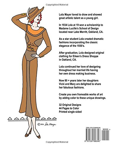 Amazon.com: Lola's Ladies: 1930's Fashions Adult Coloring Book ...