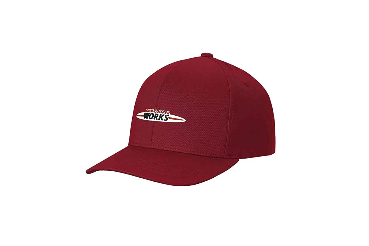 c0c01b6c25179 MINI Genuine JCW Rubber Logo Baseball Flexfit Snapback Cap 80162454533   Amazon.co.uk  Clothing