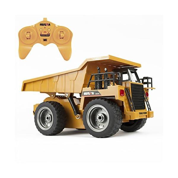 Tekbox 6 Channel RC Construction Tilt Dump Truck 2.4Ghz Full Functional Battery