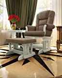 Naomi Home Deluxe Multiposition Sleigh Glider and Ottoman Set White/Mocha