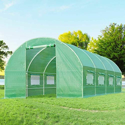 Tobbi Garden Portable Outdoor Walk-in Greenhouse 15X7'X7′ Garden Hot House