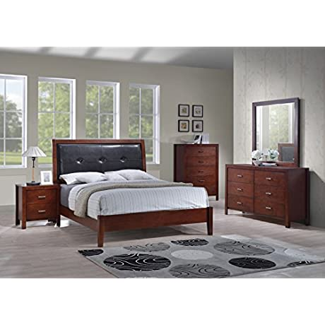 Best Quality Furniture B1200EKSet5PC 5PC Bedroom Set W Nighstand