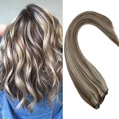 Sunny Hair Piano Color - Extensiones de cabello humano, 100 g 24