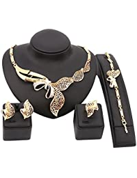 Women 18K Gold Plated Crystal Africa Style Golden...
