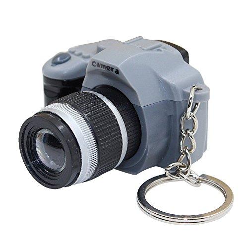 (Leegoal LOCOMO Cute Mini Digital Single Lens Reflex DSLR Camera Style LED Flash Light Torch Shutter Sound Keychain )