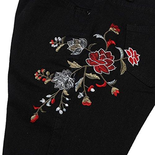 Pantalon Taille Jeans Haute Vintage Crayon Jeans Imprim AIMEE7 Femmes Broderie Denim Pantalons 4PUHH