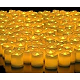 VANSHIKA Decorative 24 PCS LED TEALIGHT - Yellow Light LED Candle Party,Wedding, Club, Home Decor (Battery Include)