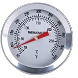 GASPRO 2'' Dial Frothing Thermometer with Clip 6'' Probe Stainless Steel Long Stem Fit for Kettle and Brew Pot or Cooking (50-550F)