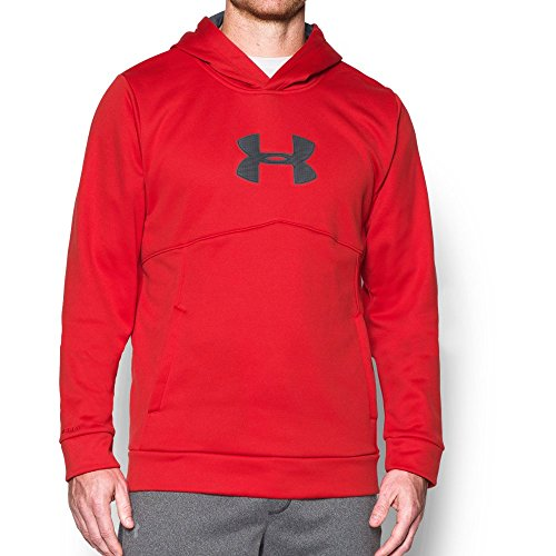 Under Armour Men's Storm Icon Logo Hoodie, Red (600)/Stealth Gray, XX-Large