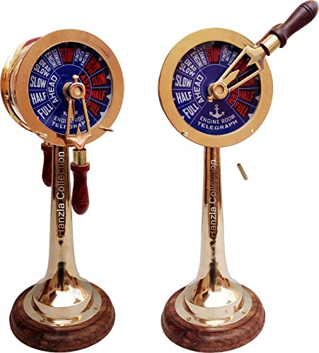 Brass Telegraph 14'' Collectible Nautical Decorative Engine Room Order Telegraph by Expressions Enterprises