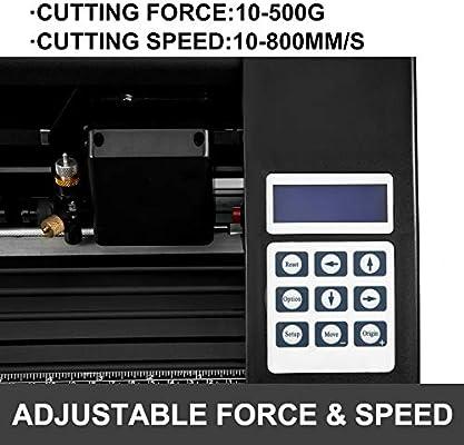 Vevor - Máquina de cortar el tractor del vinilo de la máquina 720 mm de la cortadora del vinilo para cortar: Amazon.es: Electrónica
