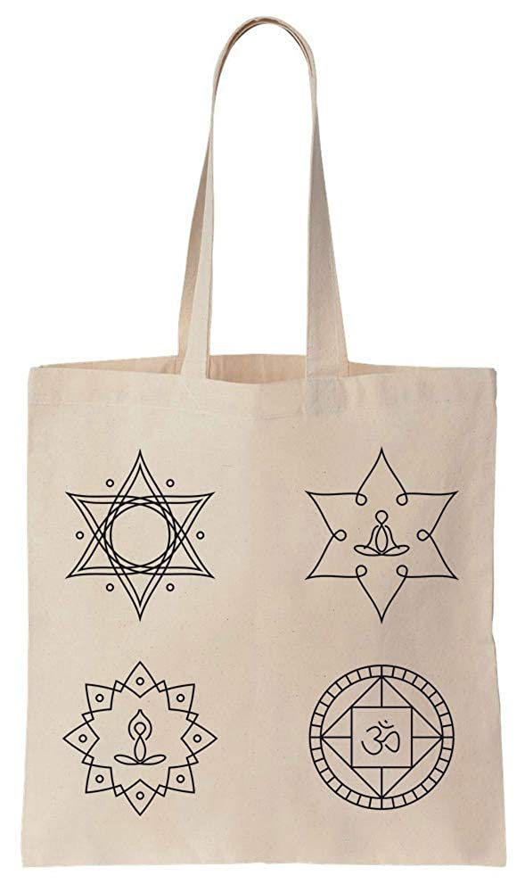 Finest Prints Yoga Meditation Elements Tattoo Design Cotton ...