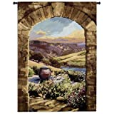Fine Art Tapestries ''Tuscan Afternoon'' Wall Tapestry, Large