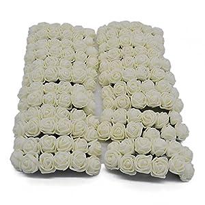 YONGSNOW 288pcs(2pack)/lot 2cm Mini PE Foam Rose Artificial Flower Bouquet Home Garden Supplies 58