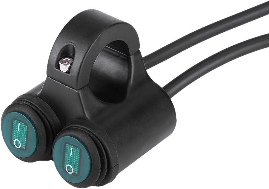 Manillares de 22 mm Interruptor de Bot/ón Doble de Control Faro//freno//Luces antiniebla//Bocina Interruptor de Manillar de Moto A