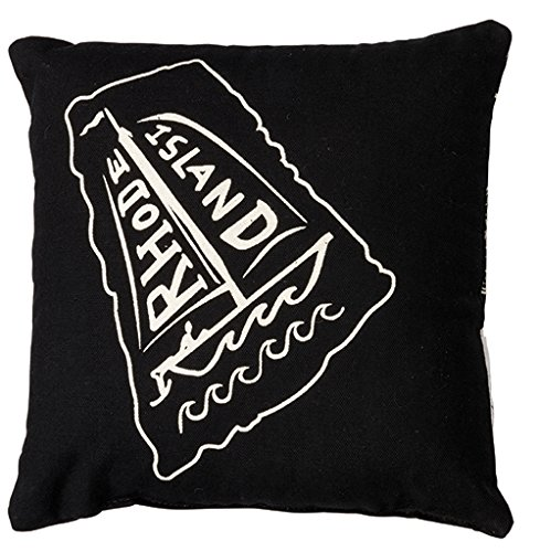 Home State Rhode Island Decorative Throw Pillow 10-Inch Square ()