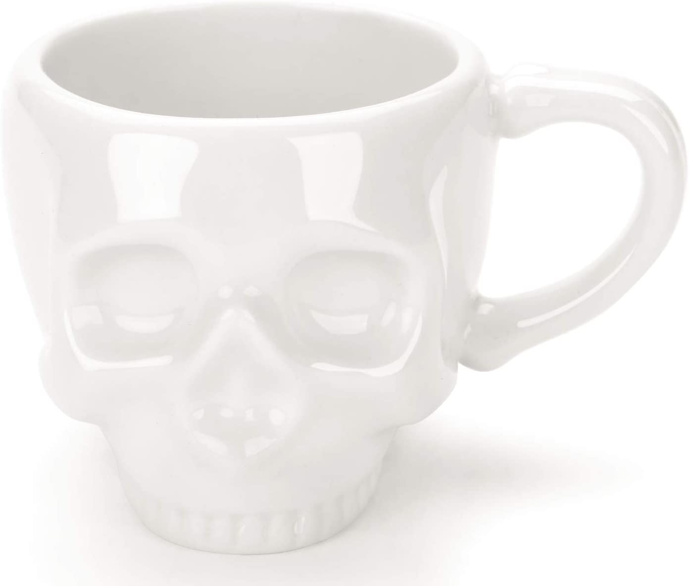 Skullis Porcelain Ceramic Skull Shaped Espresso Coffee Cup 2 OZ for Home and Office Party, Holiday and Birthday Present, Unique, Exclusive.