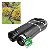 Solid Corrugated Expandable Flexible Landscape Drain Pipe, 4-Inch by 12-Feet