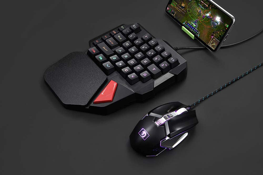 USB Mechanical Keyboard for Game One-Handed Keyboard for Mobile Game PUGB Left Hand Keypad Backlight