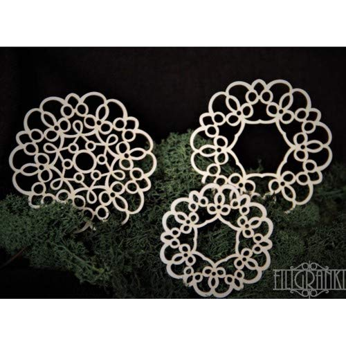 Lace Panels Filigranki Laser Cut Decorative Chipboards for Handicraft