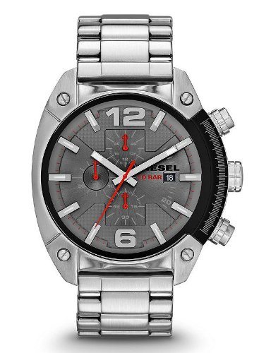 Diesel Men's DZ4298 Overflow Analog Display Analog Quartz Silver Watch