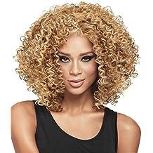 Ikerenwedding Women's Black Small Roll Short Full Afro African American Wigs Natural