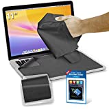 """Clean Screen Wizard Microfiber Screen Cleaner and Protector Kit Bundle with 3 Large Cloths / Keyboard Covers in Protective Pouches and Cleaning Sticker for Laptops - 11"""" Screen"""