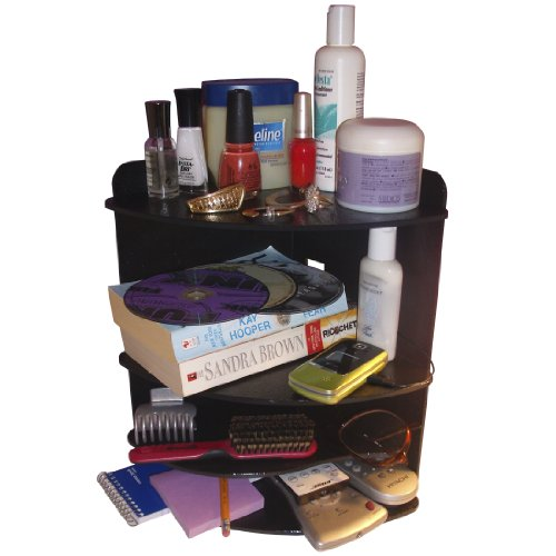 Corner Shelf Organizer makes Your Night Stand or Countertop Neat! No More clutter! 4 Shelves High and A Bonus Cord Hole In The Back. Proudly Made in the USA! by PPM.