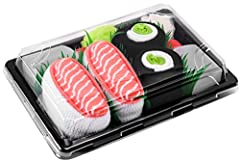 Sushi Socks Box is a product, designed by a group of young sushi fans. Sushi Socks are cotton socks resembling sushi, packed in box like a real sushi, decorated by grass, ginger and wasabi (shaping from fabric scraps). Sushi Socks are made in...