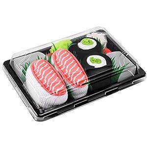 Rainbow Socks – Femmes Hommes – Sushi Chaussettes Saumon Concombre Maki – 2 Paires