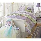 Brandream Girls Purple Flower Comforter Set Cute Kids Bedding Set Queen Size