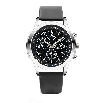 4b0098c2f33a 腕時計 メンズ Hodarey 三つ目腕時計クォーツメンズ腕時計ブルーグラスベルトウォッチ 日付表示