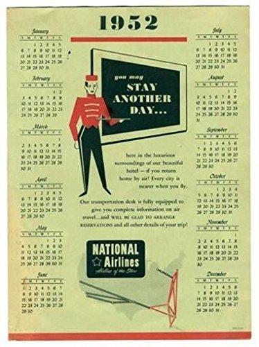 vintage airline calendar - 6