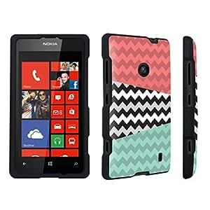 DuroCase ? Nokia Lumia 521 Hard Case Black - (Abstract Chevron)