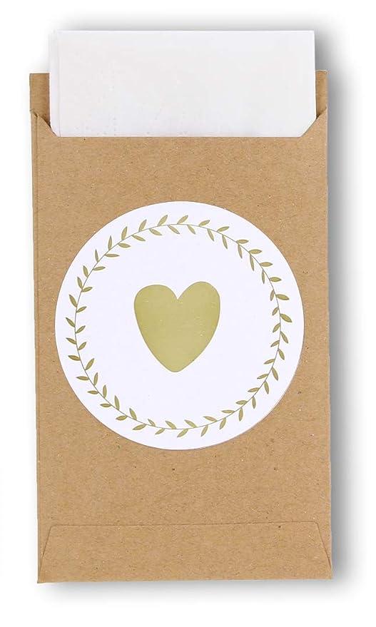 havalime 100 Alegría Tears Bolsas & Design Vintage Papel Kraft Pegatinas Mini Bolsas de Papel pañuelos (para Boda del Paquete de Regalo Joyas, Sticker ...
