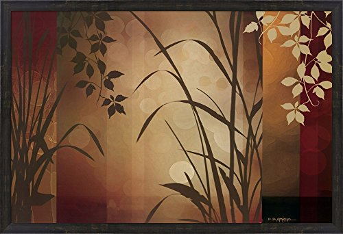 (Flaxen Silhouette by Edward Aparicio Framed Art Print Wall Picture, Espresso Brown Frame, 39 x 26 inches)