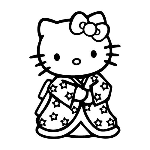 Hello Kitty in Kimono - Vinyl 5.5