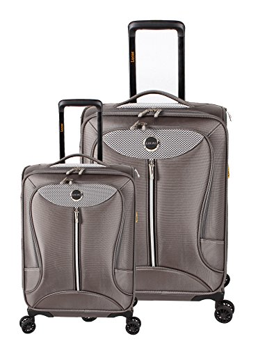 Lucas Luggage Adrenaline 2 Piece Softside Expandable Spinner Suitcase Set (Gray) by Lucas