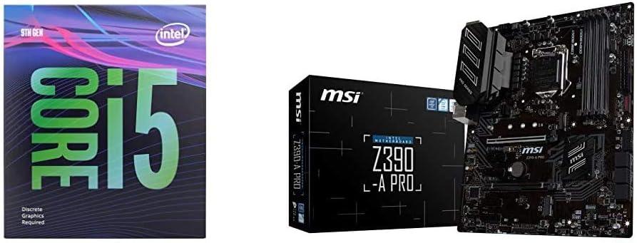 Intel Core i5-9400F Desktop & MSI Z390-A PRO LGA1151 (Intel 8th 9th Gen) M.2 USB 3.1 Gen 2 DDR4 HDMI DP CFX Dual Gigabit LAN ATX Z390 Gaming Motherboard