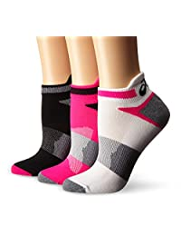 ASICS Womens Quick Lyte Cushion Single Tab Running Socks,Pack of 3