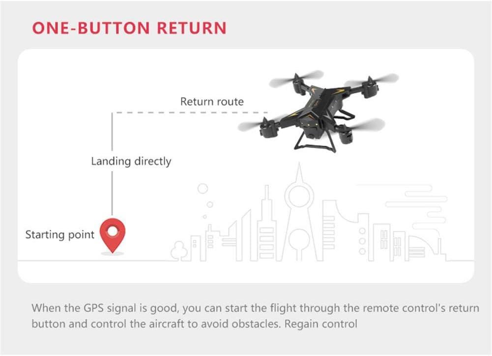 TOMATION KY601G GPS Drone Pliable avec Cam/éra 4k HD Transmission en Direct 5GHz WiFi FPV Retour Automatique Accueil WiFi FPV Vid/éo en Direct Geste Photos RTF One Key Take Off//Landing wondeful