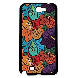 Colorful Floral Print Hard Snap on Phone Case (Note 2 II)